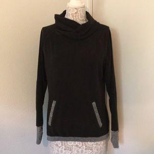 Black/gray cowl sweatshirt